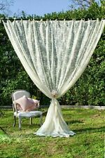 Tenda Shabby Chic in Pizzo 140x290 Tendone Finestra da Sala Camera Salotto Beige