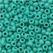 11/  Opaque Turquoise Round Glass TOHO Glass Seed Beads 15 grams #55
