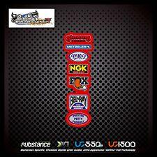 Metzeler NGK Fox Rear Fender Red Decal Sticker MX (543)
