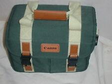 Original CANON GREEN film/digital Camera Bag + Strap VERY NICE