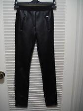 BCBG Max Azria black SISSY ZIP-POCKET LEGGING Skinny pants DUJ2F573 XXS 0