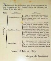 50 CIVIL AND MILITARY DOCUMENTS LINKED TO CATALUNYA. SPAIN. PRINCIPLE XIXTH