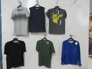 6 Everlast Structure Mens T-Shirt Crew Sweatshirt Casual Clothes Small Adult Lot