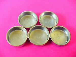 "Fits GM 5pk 1-1/8"" Freeze Expansion Plugs Zinc Plated Steel Engine Cylinder NOS"
