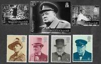 Sir Winston Churchill mnh sets-Guernsey & Great Britain