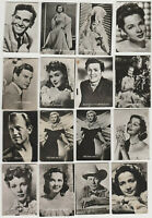 Lot of 20 1950s Belgian Gum Film Stars Real Photo Trading Cards - Back Damage