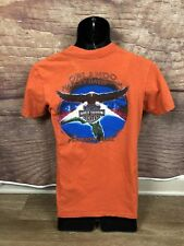 Harley Davidson T Shirt Orlando, FL Orange Youth Size Medium (a50) B