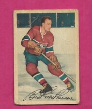 1953-54 PARKHURST # 22 CANADIENS BUD MCPHERSON CREASED CARD (INV#5885)
