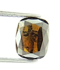 1.73TCW Gray Cognac Brown Oval Rose cut Natural Diamond for Valentine Day Deal