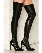 Jeffrey Campbell Vulpina Over-the-Knee Boots size 10 black new in box