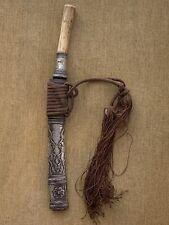 Antique Burmese Silver Dha Dagger