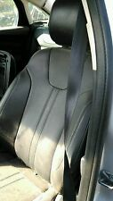2012-2014 FORD FOCUS CHARCOAL BLACK LEATHER FRONT DRIVER AND PASSENGER SEAT