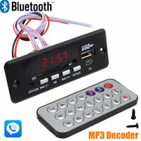 7~12V Car Handsfree Bluetooth MP3 Decode Board Lossless Music Decoder+ FM