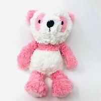 Demdaco Nat & Jules Pink White Panda Bear Kio Plush Shaggy Stuffed Animal Baby