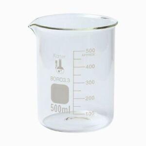 500 ml Low Form Graduated Glass Beaker Karter Scientific 213D26 - Two Pack