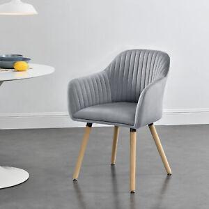 B-WARE Armlehnstuhl Esszimmerstuhl Polsterstuhl Küchenstuhl Sessel Stuhl grau