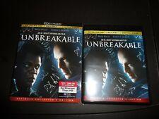 New listing Unbreakable (4K Ultra Hd + Blu-Ray + Slipcover) Bruce Willis No Digital