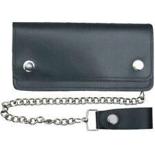 """6"""" Dark Brown Leather Chain Wallet Biker/Trucker"""