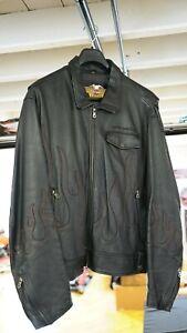 Genuine Harley Davidson Men's 3XL Leather Jacket American Legend, FLAMES #12