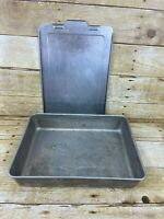 Vtg Mirro Aluminum Cake Pan w Sliding Snap On Lid Aluminum 13x9 USA Bakeware