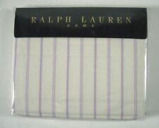Ralph Lauren Home Twin Flat Sheet Giselle Stripe Purple 100% Cotton