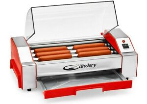 Hot Dog Roller - Sausage Grill Cooker Machine - 6 Hot Dog Capacity