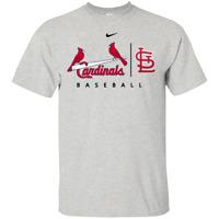 ST Louis Cardinals Light Blue MLB Practice Black Navy T-Shirt Men's Women S-5XL