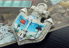 Turkey Izmir Konak Square Souvenir Anchor Shaped 3D Fridge Magnet Craft