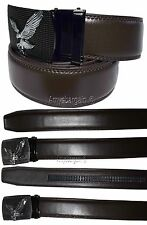 Men's belt, Leather Dress Belt Automatic Lock belt, Eagle Buckle Quick lock belt