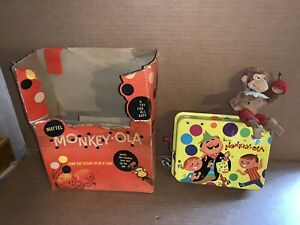 Vintage Mattel 1958 Monkey-Ola Turn the Crank Play a Tune With Box
