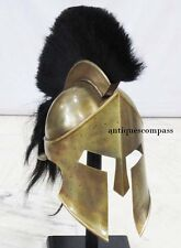 Medieval Armor Roman Greek King Leonidas Movie 300 Spartan Helmet W Plume & Stan