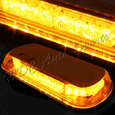 34 LED Yellow & Amber Roof Top Emergency Hazard Warning Flash Strobe Light Bar