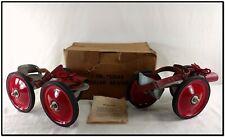 VINTAGE 3 LARGE WHEEL ROLLER SKATES ORIGINAL BOX INSTRUCTIONS **** SALE $100 OFF