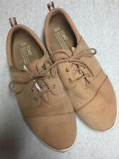 Toms Women's Tan Leather Lace Up Casual Shoes Size Sz 10