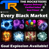 [XBOX ONE]Rocket League Every Black Market Goal Explosion Shattered Voxel etc.