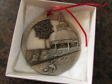 Solid Pewter Ornament Pier Street Pewter Bethesda Spring House