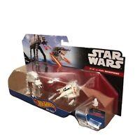 Star Wars Hot Wheels Die Cast - AT-AT Vs Rebel Snowspeeder