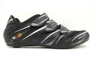 Northwave Black Leather Adjustable 3 Bolt Athletic Cycling Shoes Men's 46 / 13