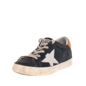 RRP €340 GOLDEN GOOSE DELUXE BRAND Suede Leather Sneakers EU25 UK8 US9 Worn Look