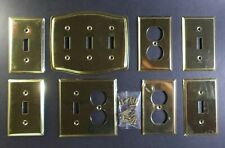 Solid Brass & Plated Light Switch & Electrical Receptacle Outlet Cover Plate Lot