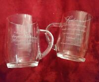 Rare set of 2 of 15th Anniversary Crystal Cathedral 180-1995 Glass Coffee Cup