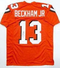 Odell Beckham Jr Autographed Orange Pro Style Jersey- JSA Authenticated *1