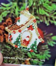 LeeWards SANTA'S CHALET Vintage VERY RARE Sequin Bead Christmas Ornament Kit NOS