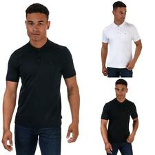 Men's Ted Baker Pumit Short Sleeve Cotton Polo Shirt in Blue, Black, and White