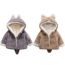 Cute Newborn Baby Kids Girls Fleece Coat Winter Warm Hooded Coat Jacket Outwear
