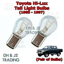 Toyota Hi Lux Tail Light Bulbs Pair of Rear Tail Light Bulb Lights HiLux (88-97)