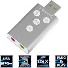 Sabrent USB Sound Adapter with Controls Silver (AU-DDAS-R)