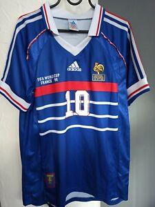 Maillot équipe de France coupe du monde 1998 Zidane M - FFF 98 shirt