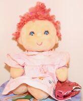"""❤️Vtg 18"""" Kenner Hugga Bunch HUGGINS Plush Doll Pink Celanese Fortrel Dress❤️"""