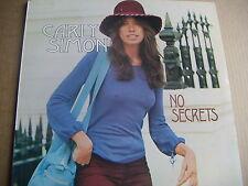 CARLY SIMON - NO SECRETS - UK PRESS